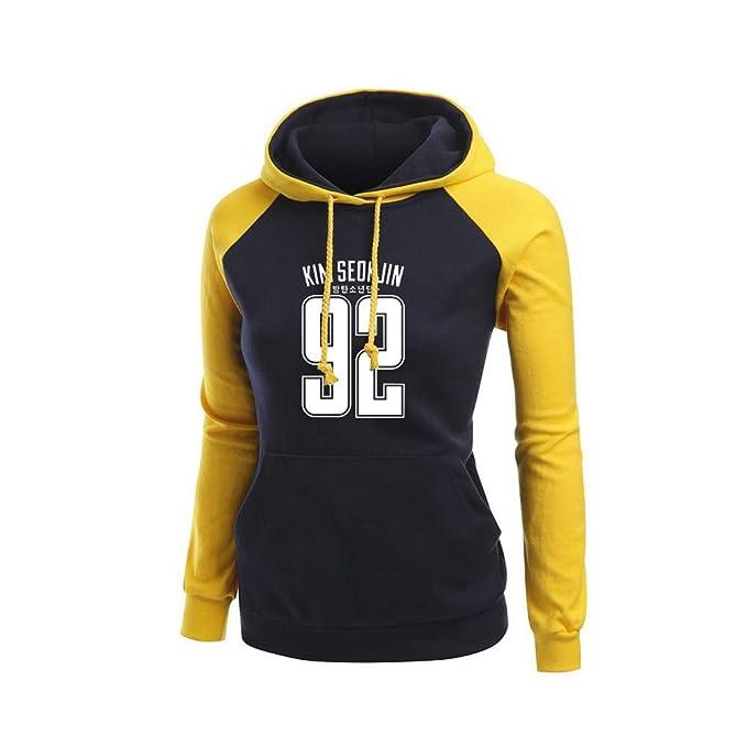 Unisex BTS Impreso Kook Suéter Simple Sudadera con Capucha Jersey Deportivo con Capucha Chaqueta de Manga Larga Casual para Hombres y Mujeres: Amazon.es: ...