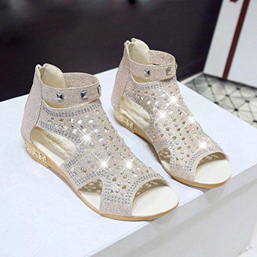 de SANFASHION Bekleidung Lisa Romana Damen Mujer Schuhe Beige 144155 SANFASHION Piel 4PHqY6wqx