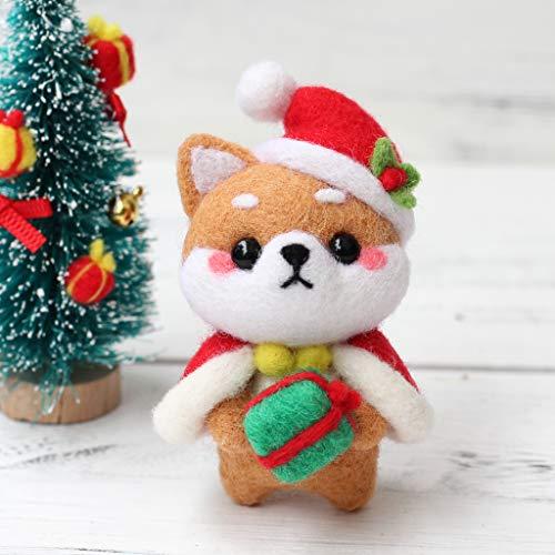 UJuly Needle Felted Christmas Ornaments Doll DIY Handmade Craft - Christmas Dog