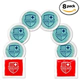 Gel Hot-Cold Ice Packs (8-Pack) - INCLUDES 2 Red Square Gel Packs: Reusable, Flexible, Non-Toxic. Freeze or Heat Therapy, Pain Relief, Reduce Swelling or Soreness