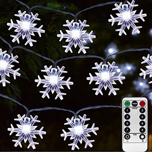 Homeleo 50 Led Cold White Snowflake LED Fairy