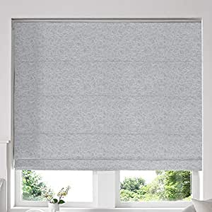 Blinds2Curtains Mixed Grey 160H x 200W cm Camryn Silver Roman Window Blinds