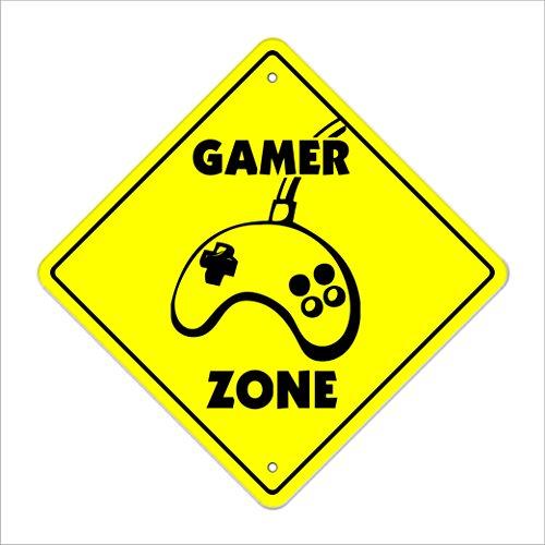 Gamer Crossing Sign Zone Xing | Indoor/Outdoor | 20