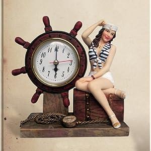 51-m3CkfnPL._SS300_ Coastal Wall Clocks & Beach Wall Clocks