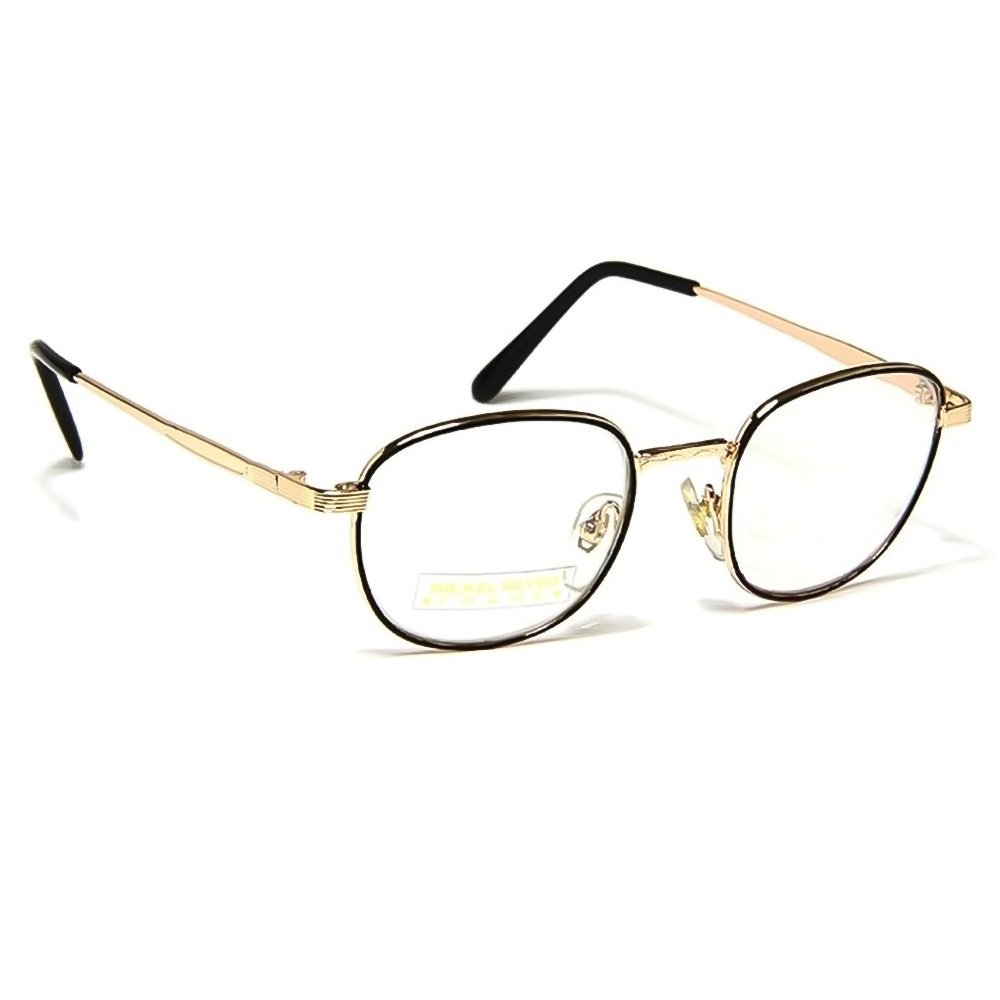 Glasses neutral Hippie - mod. BREAKING BAD Walter - optical frame VINTAGE man woman unisex Kiss PROD1089-GOL642