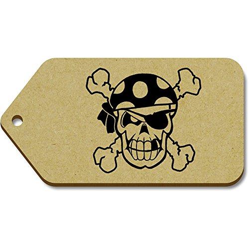tg00013845 X 10 99mm Etiquetas Regalo equipaje Azeeda 'cráneo Pirata' 51mm Grande Del 7Pd5qA