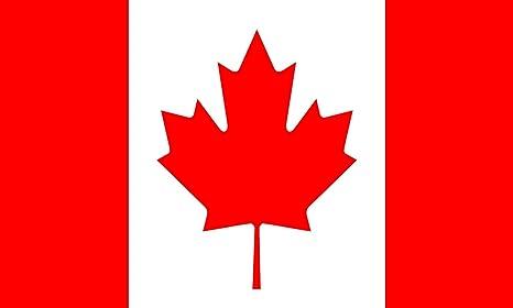 Hoja de arce poliéster bandera nacional de Canadá (5 x 91,44 cm): Amazon.es: Deportes y aire libre