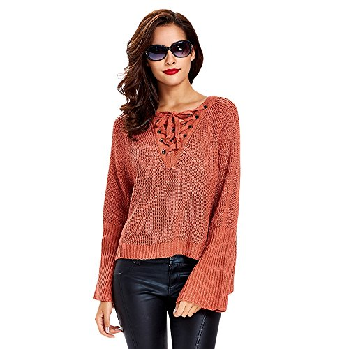 Dezzal Criss Cross Sleeves Pullover Knitted product image