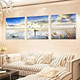 The living room decorated with paintings of No 3 box art wall clock sofa wall hanging art dining room bedroom study clocks paintings 4040cm,4