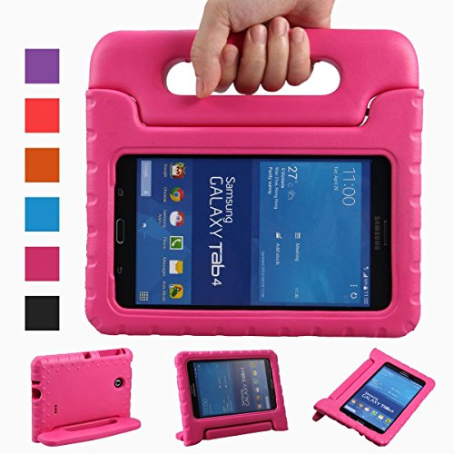 Samsung Galaxy Tab 4 8.0 Case, Anken Light Weight Kids Case Super Protection Cover Handle Stand Case For Samsung Galaxy Tab 4 8.0-inch (Galaxy tab 4 8.0, Rose) (Mini Samsung Galaxy Tablet Case compare prices)
