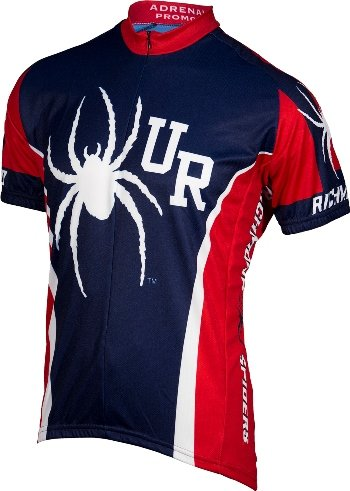 - NCAA Richmond Spiders Cycling Jersey, Large, Navy/Red
