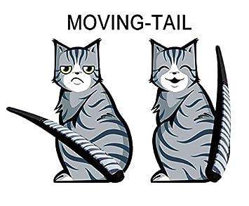 ZENDY Ventanas dados de golpe 3D pegatinas decorativas de vidrio estereoscópicas y de la forma del gato de limpiaparabrisas (2 gatos incluidos) decorativos ...