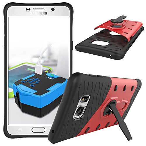 Anti-knock Shockproof Armor Case for Samsung Galaxy Note 5 Red - 8