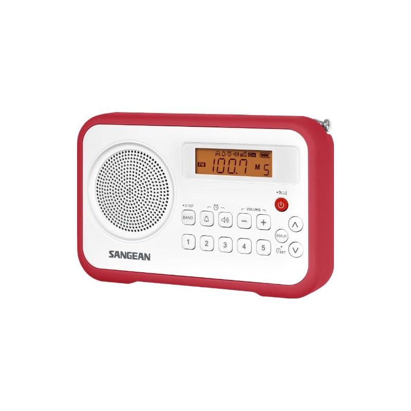 Sangean AM/FM/Clock Portable Digital Rad