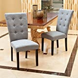 Christopher Knight Home 295202 Angelina Dining Chair, Grey