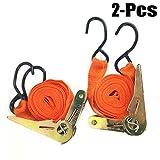 Fansport 2PCS Cargo Straps Practical Ratchet Tie Down Straps Heavy Duty Straps for Truck
