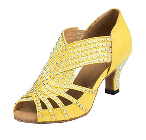 MGM Moderno Slip on Joymod Giallo 6cm Yellow e Jazz 35 Heel Donna r47xrwqBa