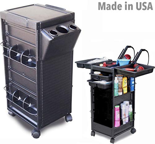 N20-H FF Salon Roll-About Rolling Cart Trolley Non Locking w/Tool Holder Made in USA by Dina Meri