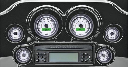 DAKOTA DIGITAL(ダコタデジタル) MVX-8K 6ゲージキット WHITE/GRAY/BLACK ハーレー用 04-13 FLHT/FLTR/FLHX  B078SS621B