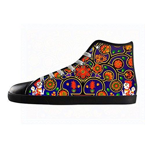shoes Schuhe Leinwand Turnschuhe paisley A High up Custom Mens Lace Schuh Sneakers Canvas Segeltuchschuhe top OptIwPP