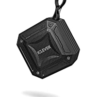 iClever Portable Bluetooth Speakers with Enhanced Bass, 20-Hour Playtime, Aux-in Port, IPX7 Waterproof, Shockproof, Wireless Outdoor Speakers for Beach, Biking, Shower, Home, Black