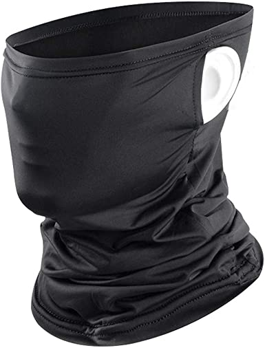 Face Cover Carbon Filter Bandanas Neck Gaiter Headbands Workout Sports Scarf 2-Pack