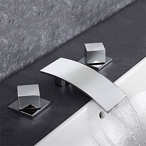 ZJN-JN 蛇口 バスルームのシンクの蛇口洗面器のミキサータップ滝の真鍮流域のシンクタップ浴室バーの蛇口 台付