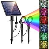 Solar Pathway Lights Outdoor, 10LED Solar Light, Waterproof Solar Garden Lights, Adjustable Solar Powered Spotlights Wall Lig