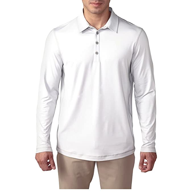 adidas Golf para Hombre UPF Polo de Manga Larga: Amazon.es ...