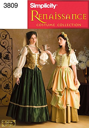 Simplicity Women's Renaissance Cosplay and Costume Sewing Patterns, Sizes -