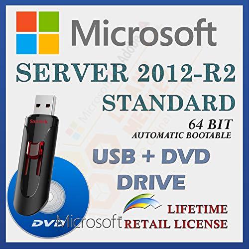 MS Server 2012 R2 Standard Retail Sale-licentie | Met USB- en dvd-station | Met factuur | 64 Bit | Automatische…