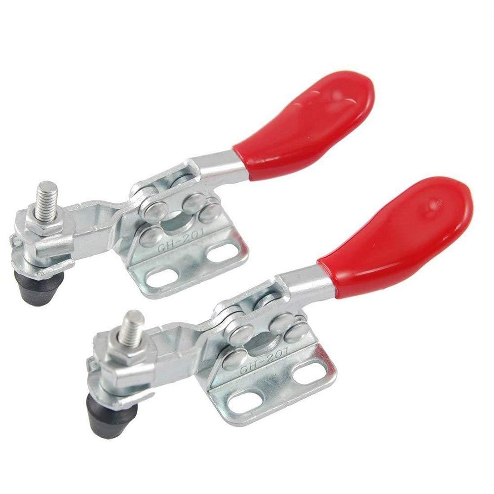 Newin Star DIY 2 piezas de metal con herramienta manual de palanca de la abrazadera de palanca de la abrazadera de liberació n rá pida horizontal abrazadera Push Pull Tipo Toggle Clamp