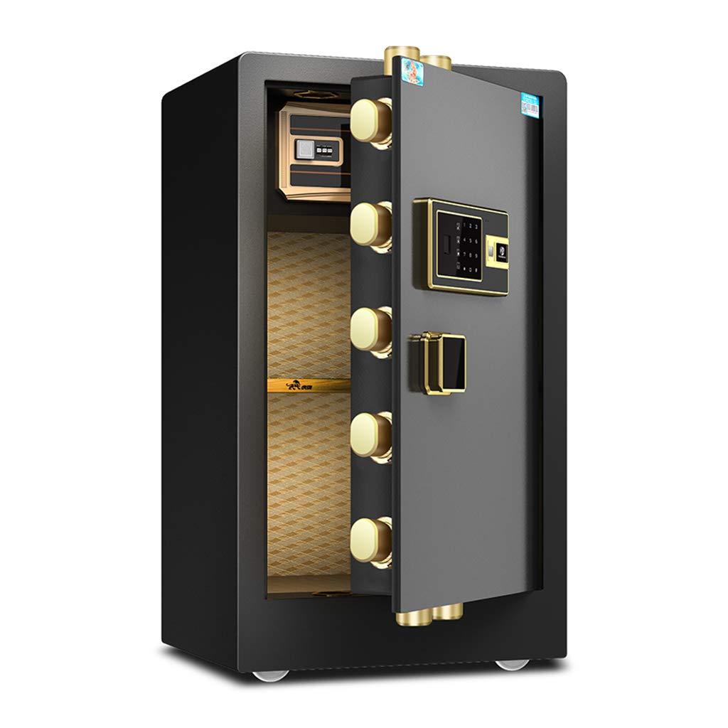 電子家庭用の安全な家庭用小さな指紋で保護されたオフィスすべての鉄製インテリジェント盗難防止金庫 Size 防犯用品 (Color 36 : Black, Size : 40** 36* 60CM) 40*36*60CM Black B07JVGYDSD, AmericanStyle 33:56ee51a4 --- loveszsator.hu