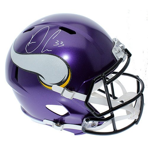 Dalvin Cook Autographed Minnesota Vikings Riddell Full Size Speed Replica Helmet - JSA Authentication (Helmet Replica Vikings Autographed Minnesota)