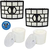 HQRP 2-pack Filter Kit for Shark Rotator NV750 series NV750W NV751 NV752 NV750REF Powered Lift-Away Upright Vacuum Cleaners, HEPA + Foam&Felt Filters + HQRP Coaster