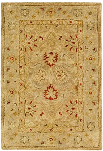 Safavieh Antiquities Collection AT822B Handmade Traditional Oriental Brown and Beige Wool Area Rug 2 x 3