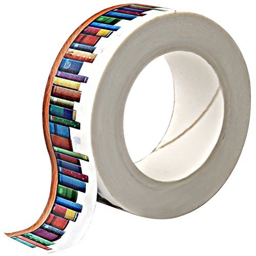 Wode Shop Washi Masking Tape,Books Washi Tape Decorative Craft Tape Collection for DIY and Gift Wrapping with Colorful Designs and (Pattern Decorative Masking Tape)