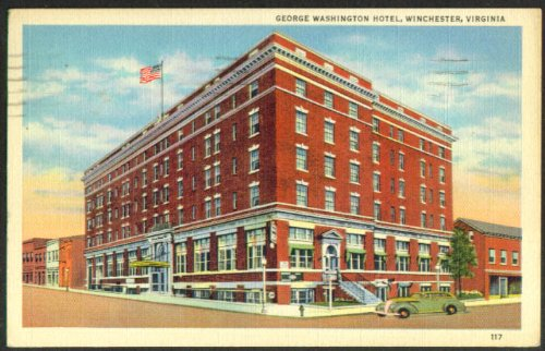 George Washington Hotel Winchester VA postcard 1941