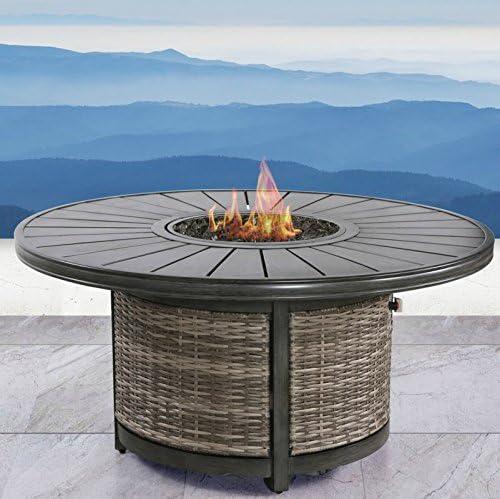 Fire Pit para chimenea de casa jardín patio para exterior por siglo moderno al aire libre: Amazon.es: Jardín