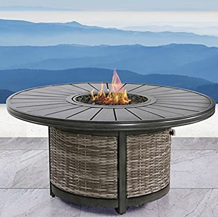 Century Modern Outdoor Fire Pit For Outdoor Home Garden Backyard Fireplace  By (Espresso Table Fire - Amazon.com : Century Modern Outdoor Fire Pit For Outdoor Home Garden