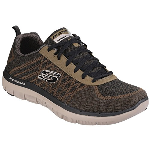 Skechers Mens Flex Advantage 2.0 Golden Point Sports Trainers/Sneakers Olive grw9YHQRH2