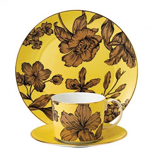 "Vibrance Yellow Teacup, Saucer & 8"" Salad Plate"