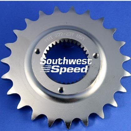 530 Conversion Sprockets (NEW SOUTHWEST SPEED 21 TOOTH FRONT COUNTERSHAFT HARLEY MOTORCYCLE SPROCKET FOR 530 CHAINS, 33 SPLINE, 1991-1992 HARLEY DAVIDSON SPORTSTER 5 SPEED, 1994-2007 BUELL BIKES, REPLACES OEM 3709-89)