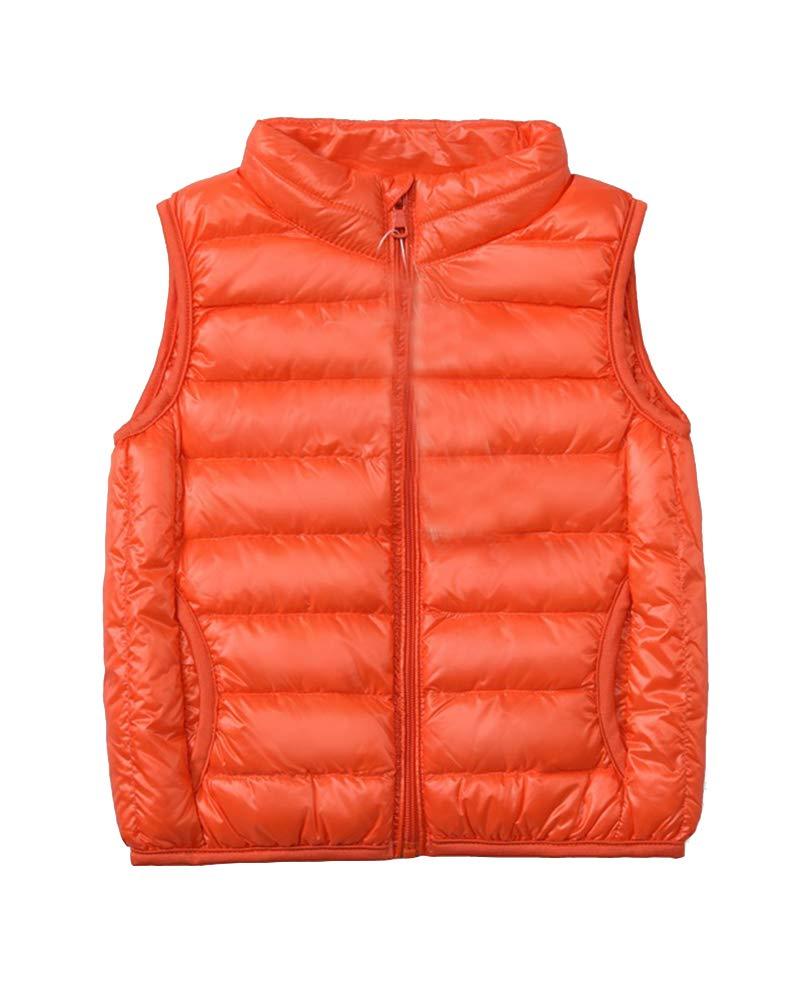 Piumino Gilet Bambini Ragazze Ragazzi Ultra Leggero Giacche e Cappotti Caldo Gilet Senza Maniche Portatili Packable 2-7 Anni