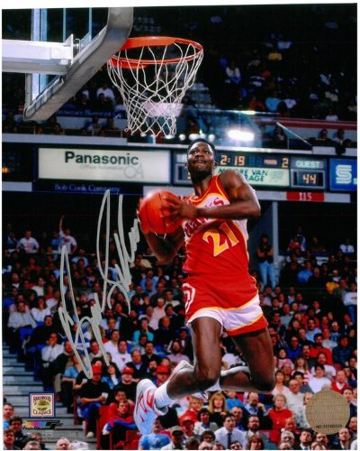 Dominique Wilkins Autographed Atlanta Hawks 8x10 Photo #3 - High Above The - Rim Shops At The