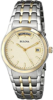 Bulova 98C60 Men's Two-Tone Bracelet Watch