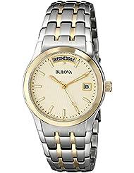 Bulova Mens 98C60 Two-Tone Bracelet Watch