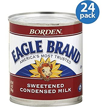 Borden Eagle Brand Sweetened Condensed Milk, 14 oz, (Pack of 24)