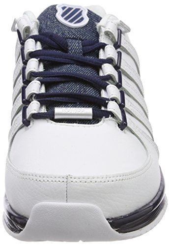 Dark Navy SP Blanc Swiss Sneakers Rinzler White Basses 143 Homme Denim K qw18FAxw