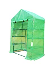Outsunny 6.5\' x 4.67\' x 2.5\' Outdoor Compact Walk-in Green...